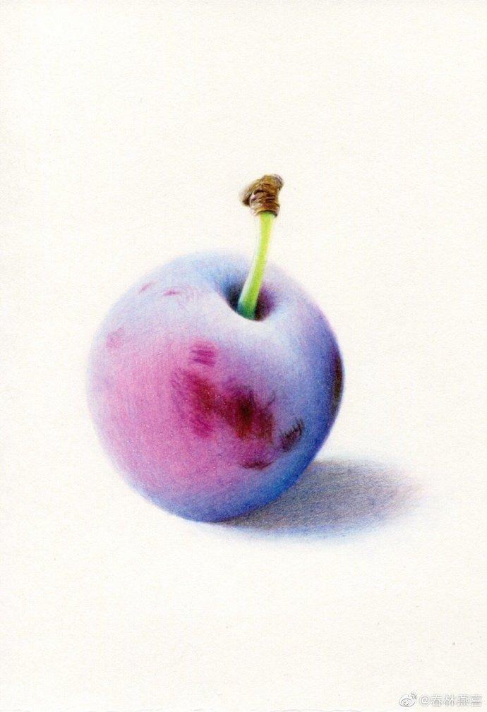 西梅水果把刻画