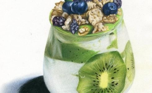猕猴桃酸奶杯
