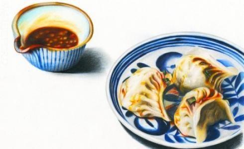 彩铅手绘饺子一份